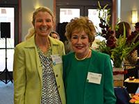Cathy Tinsley and Elizabeth Dole.
